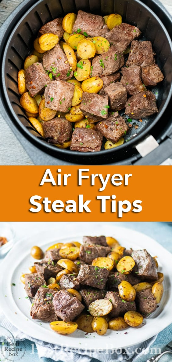 Best Air Fryer Steak Tips Recipe in the Air Fryer. Perfect Keto Steak Bites Dinner!   @bestrecipebox