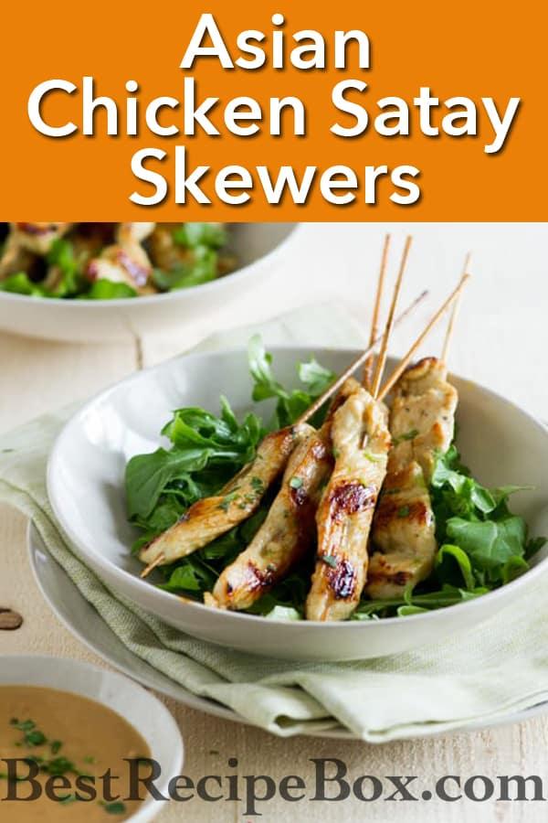 Chicken Satay Recipe from ChickenRecipeBox.com