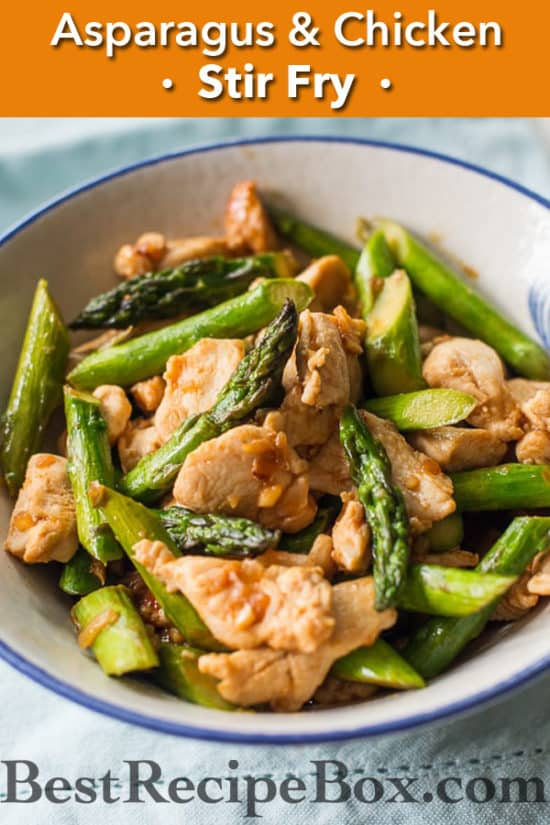 Delicious and Healthy Chicken Asparagus Stir Fry Recipe | @bestrecipebox