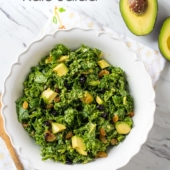 Avocado Massaged Kale Salad and Healthy Kale Salad @bestrecipebox
