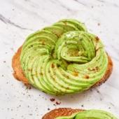 Avocado Rose Toast- How To Make Avocado Roses for Salads | @bestrecipebox