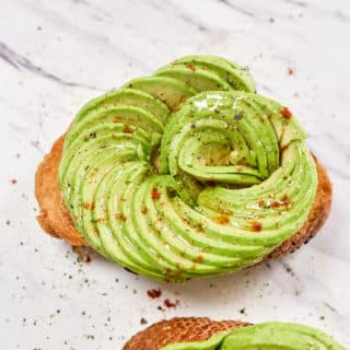 Avocado Rose Toast- How To Make Avocado Roses for Salads | @bestrecipebox