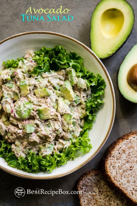 Avocado tuna salad recipe | BestRecipeBox.com