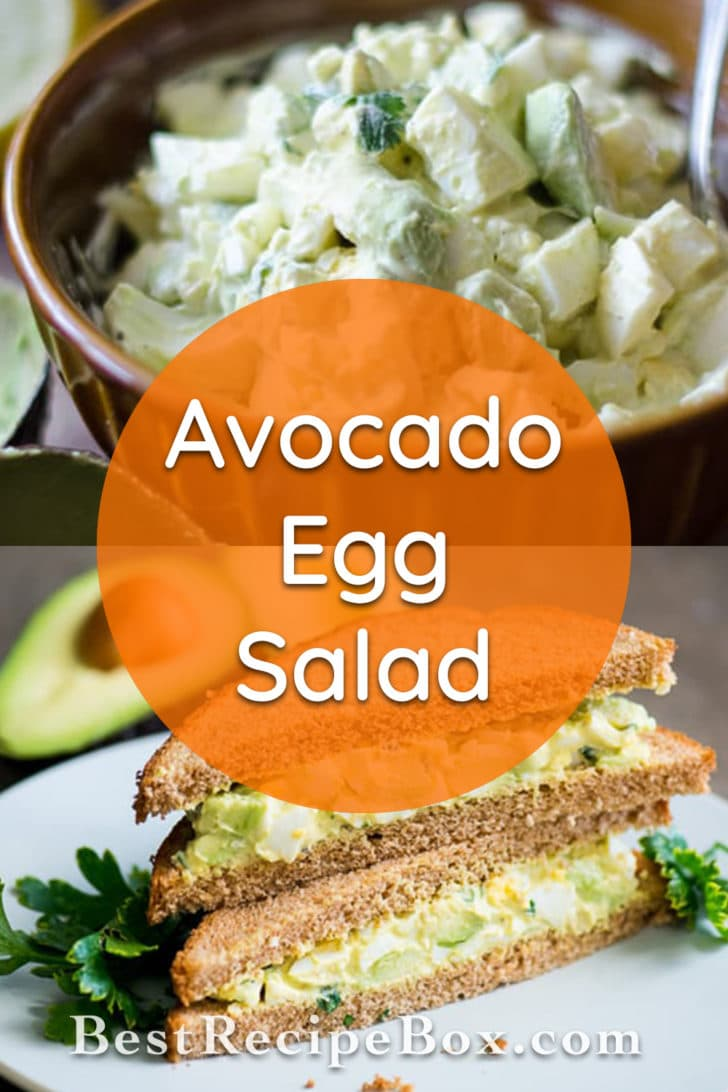 Avocado Egg Salad Recipe | @bestrecipebox
