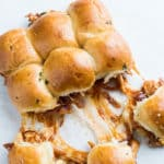 BBQ Chicken Pull Apart Sliders - Chicken Sliders Recipe | @bestrecipebox