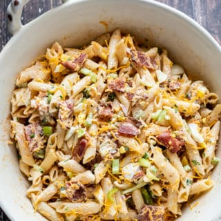 Bacon Ranch Pasta Salad Recipe | BestRecipeBox.com