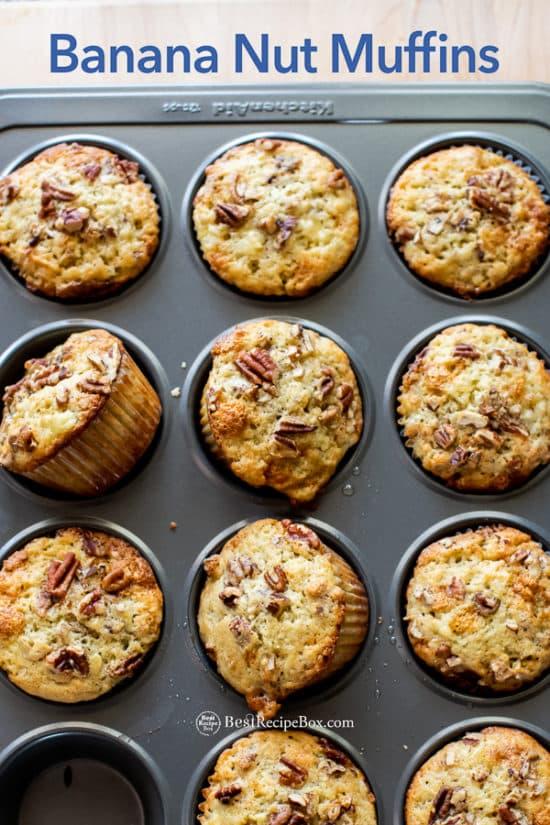 Best Banana Nut Muffins Recipe in muffin pan