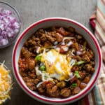 Dad's Famous Chunky Beef Chili Recipe with Beans | @bestrecipebox
