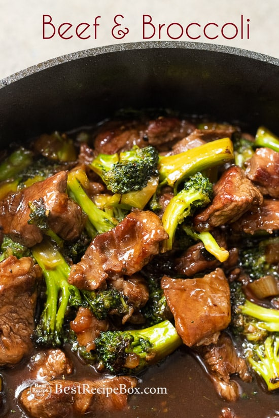 Easy and Best Chinese Beef and Broccoli Recipe Restaurant Style in a cooking pan