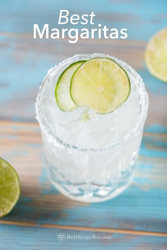 Best Margarita Recipe or Classic Margarita in a glass