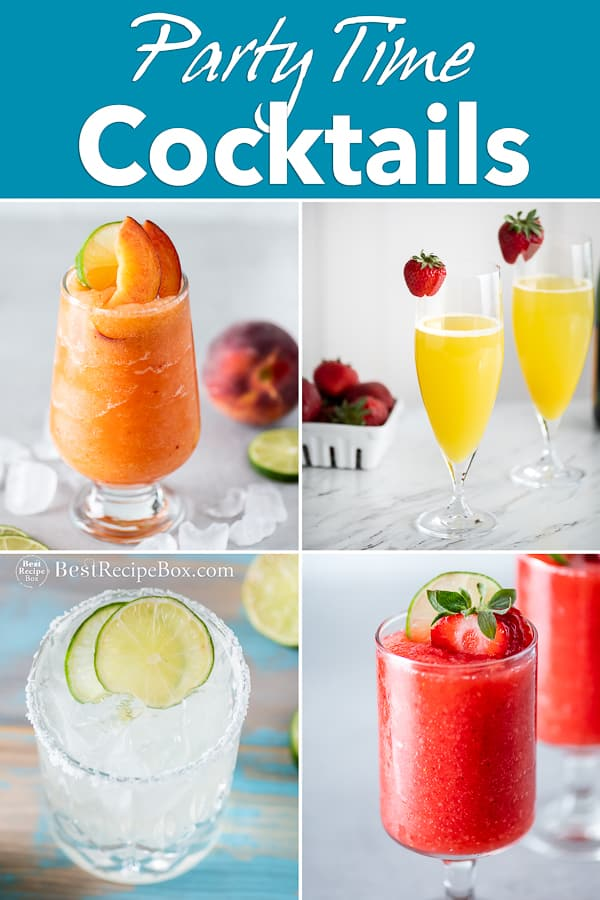 Party Time Cocktails step by step