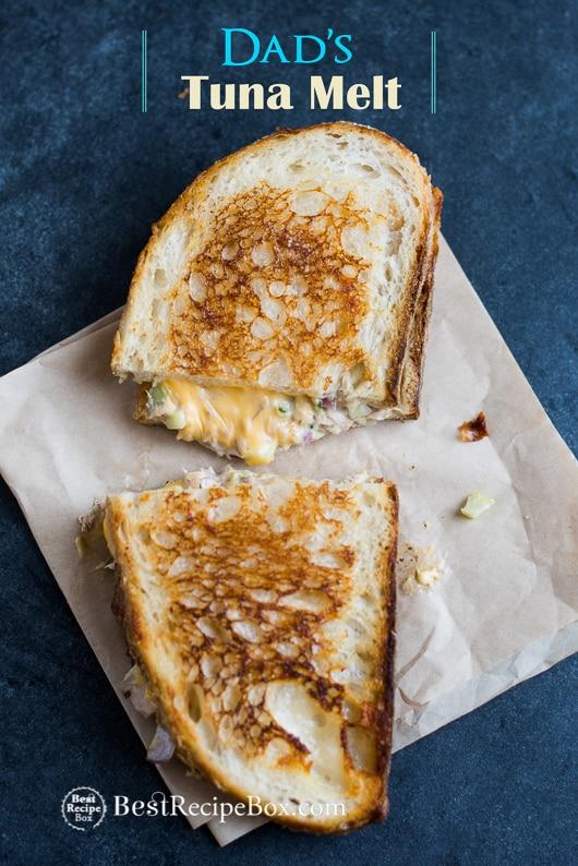 Best Tuna Melt Sandwich or Tuna Grilled Cheese Sandwich Recipe   @bestrecipebox
