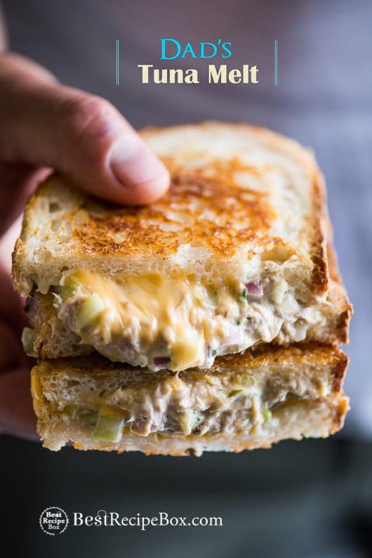 Best Tuna Melt Sandwich or Tuna Grilled Cheese Sandwich Recipe | @bestrecipebox