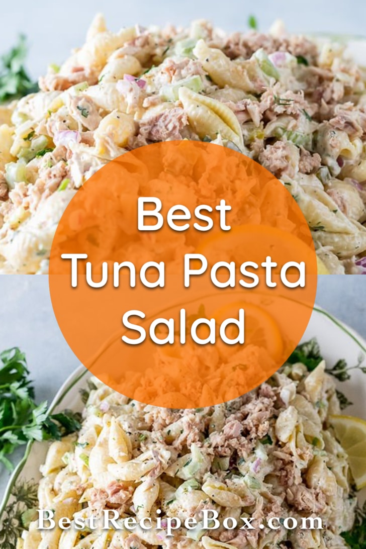 Easy Tuna Pasta Salad Recipe | BestRecipeBox.com