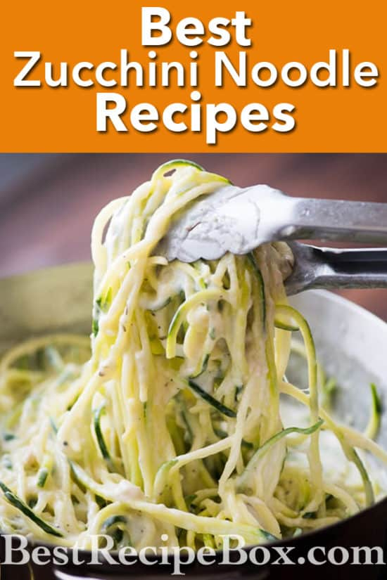 Best zucchini noodles recipes with vegetable spiralizer recipes @bestrecipebox