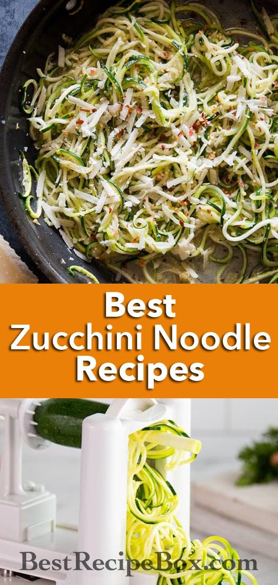Best zucchini noodles recipes with vegetable spiralizer recipes @bestrecipebox