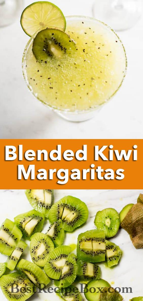 Kiwi Margaritas Recipe made from fresh kiwi! | @bestrecipebox