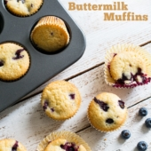 Blueberry Lemon Buttermilk Muffins for Breakfast or Brunch | @bestrecipebox