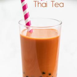 Boba Thai Tea Recipe or Bubble Thai tea Recipe refreshing sweet drink! @bestrecipebox