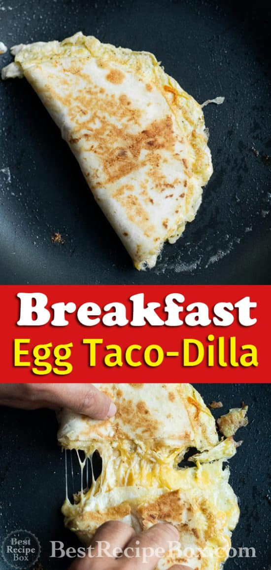 Breakfast Taco-Dilla with Egg Cheese Taco Quesadilla | BestRecipeBox.com