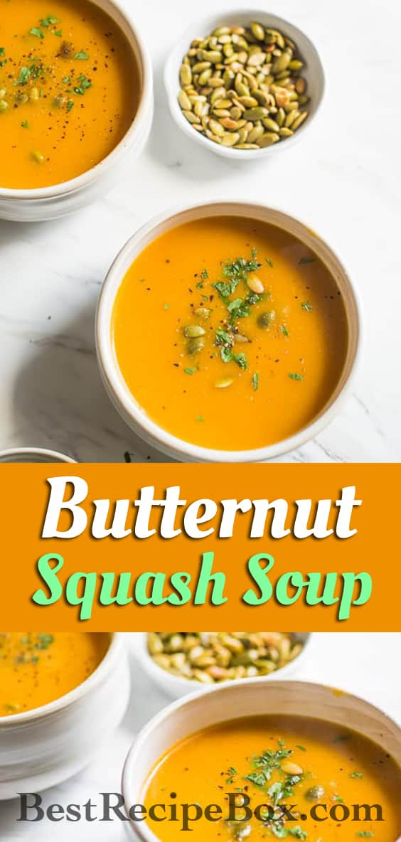 Easy 2-Ingredient Butternut Squash Soup Recipe that's quick and delicious! | @bestrecipebox