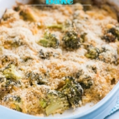 Cheddar Broccoli Bake with Parmesan Cheese | Broccoli Cheese Casserole | @bestrecipebox