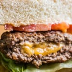 Cheddar Cheese-Stuffed Burgers-Juicy Lucy Hamburgers Cheeseburger Recipe | @bestrecipebox