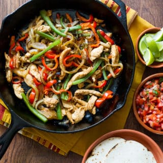 Easy Skillet Chicken Fajitas