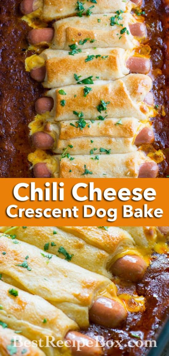 Chili Cheese Hot Dog Bake for Chili Cheese Dog Lovers! | @bestrecipebox