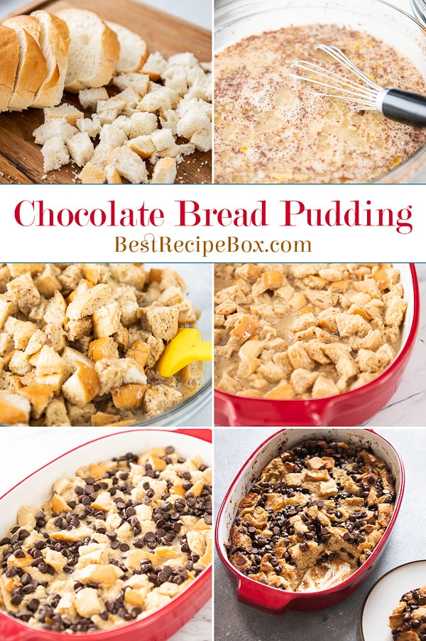 Chocolate Chip Bread Pudding Recipe | BestRecipeBox.com