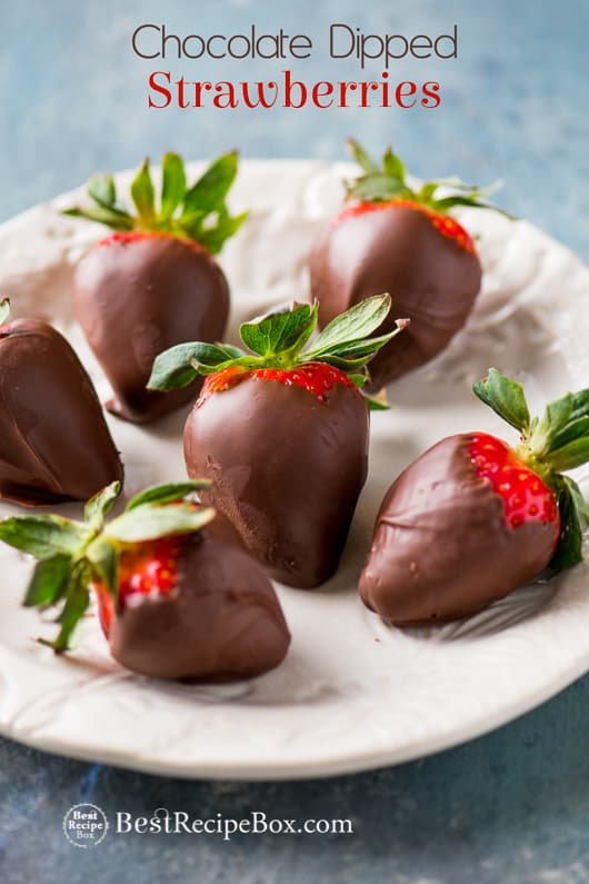 Chocolate Covered Strawberries Recipe For Valentines Dessert