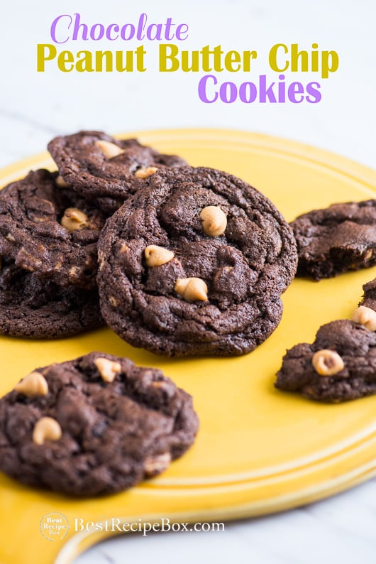 Soft And Chewy Chocolate Peanut Butter Chip Cookies
