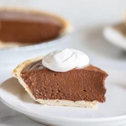 Easy Creamy Chocolate Silk Pie Recipe with just 4 Ingredients! BestRecipeBox.com