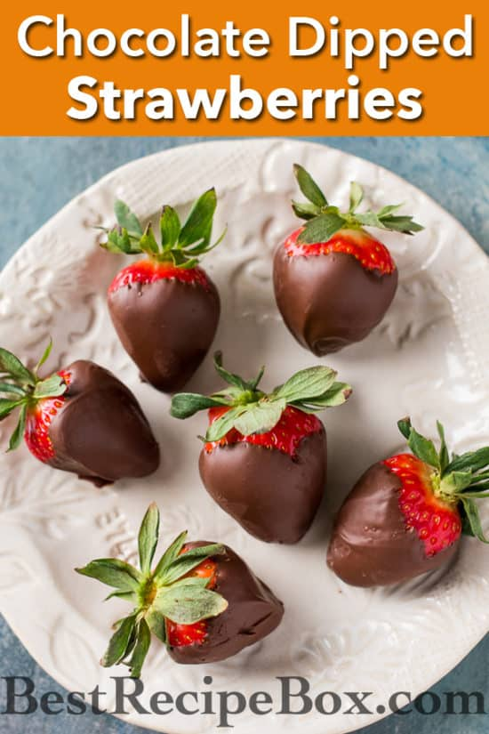 Chocolate Dipped Strawberries and Valentines Chocolate Dessert Recipe | @bestrecipebox