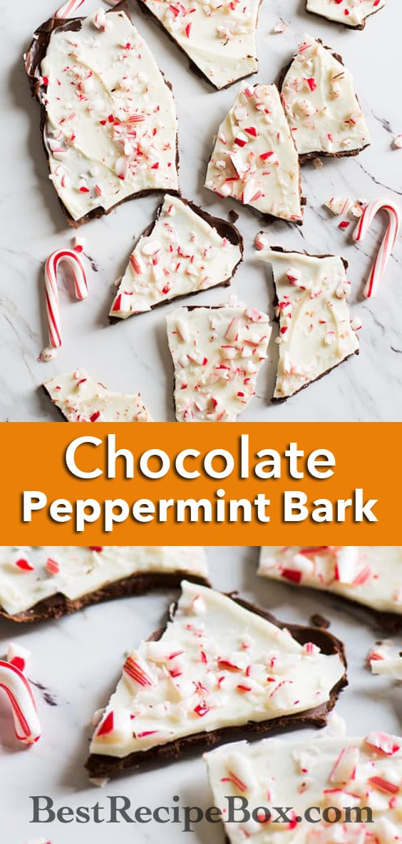 Chocolate Peppermint Bark Recipe that's Easy and Delicious | @bestrecipebox
