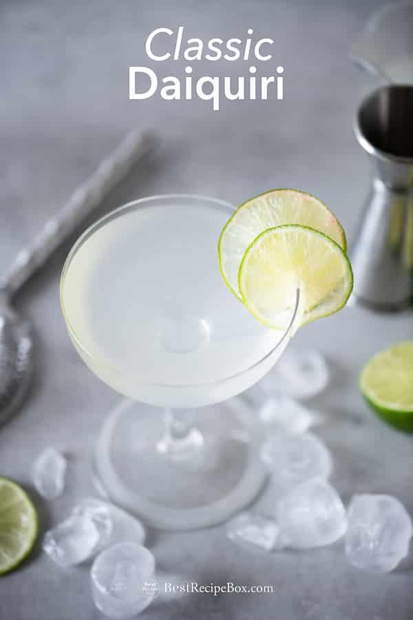 Classic Daiquiri Recipe with Rum and Lime | BestRecipeBox.com