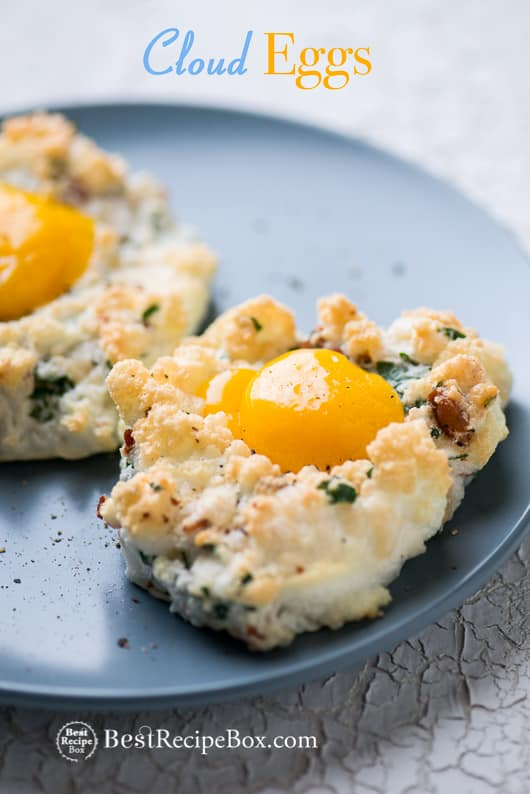 Cloud Eggs Recipe or Eggs in a Cloud | @bestrecipebox