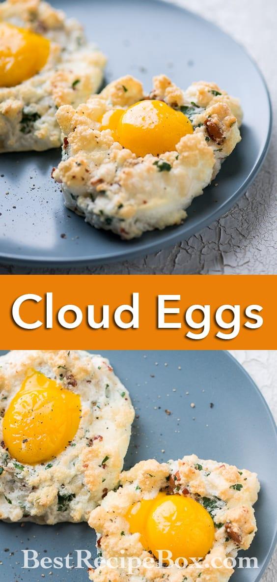 Cloud Eggs Recipe or Eggs in a Cloud for Healthy Breakfast Recipe | @bestrecipebox