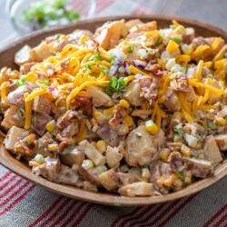Cowboy Bacon Ranch Potato Salad Recipe @BestRecipeBox