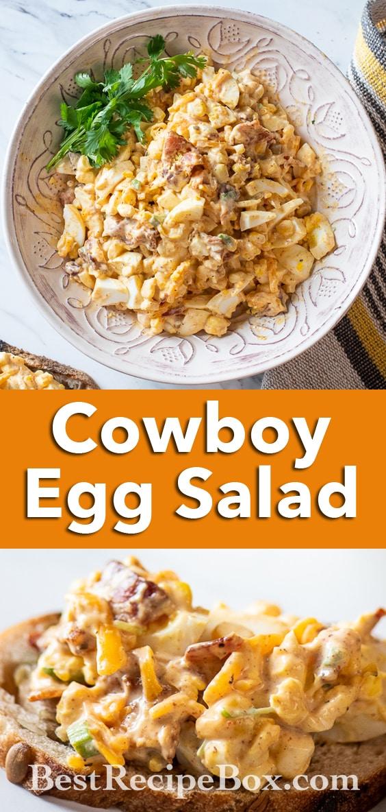 Cowboy Egg Salad Recipe for Keto Egg Salad Recipe | @BestRecipeBox