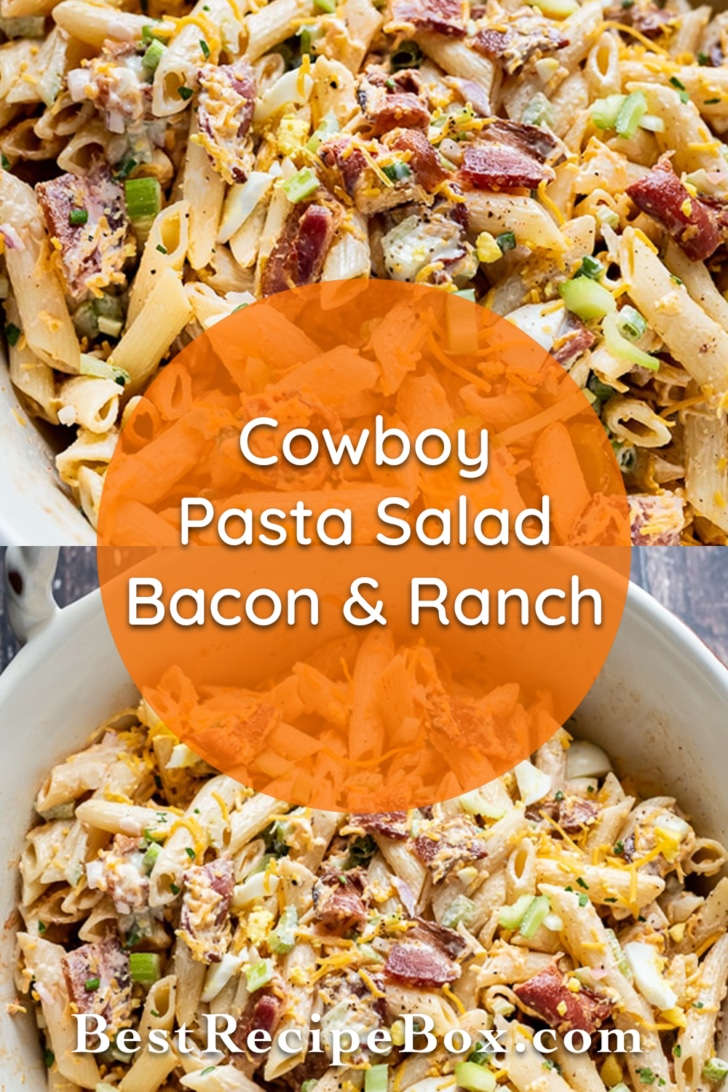 Bacon Ranch Pasta Salad Recipe | BestRecipeBox.com