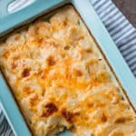 Creamy Gravy Scalloped Potatoes Recipe in casserole