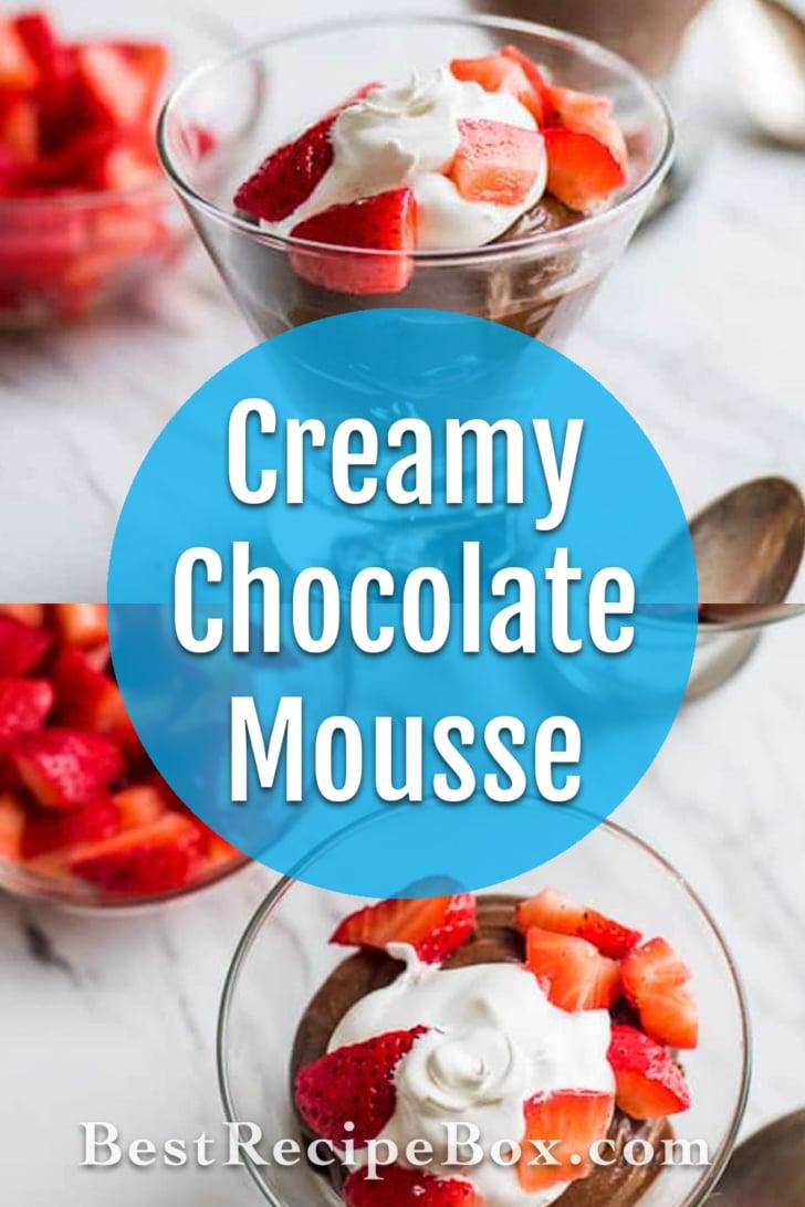 Super Easy and Creamy Chocolate Mousse Recipe | @bestrecipebox