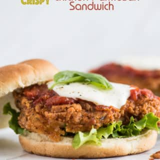 Crispy Chicken Parmesan Sandwich with Best Parmesan Chicken Recipe | @bestrecipebox
