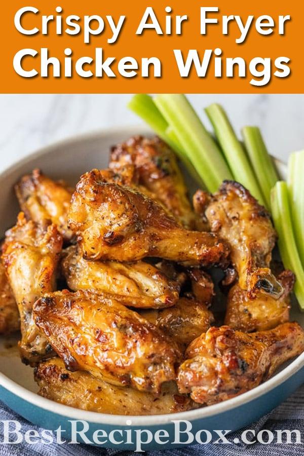 How to make Healthy Air Fryer Chicken Wings Recipe | @bestrecipebox
