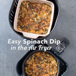 Easy Air Fryer Spinach Dip Recipe in Air Fryer is perfect for game day parties!   @bestrecipebox