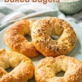 Easy Baked Bagel Recipe - Healthy Bagel Recipe @bestrecipebox