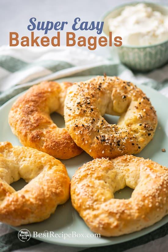 Easy Baked Bagel Recipe @bestrecipebox
