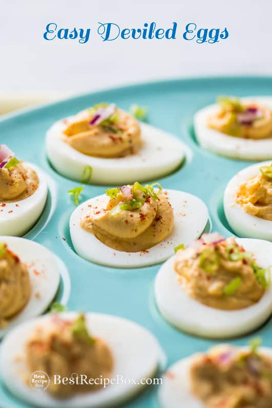 Easy Deviled Eggs and Best Easter Deviled Egg Recipe | @bestrecipebox