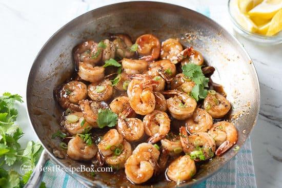 garnish honey garlic shrimp